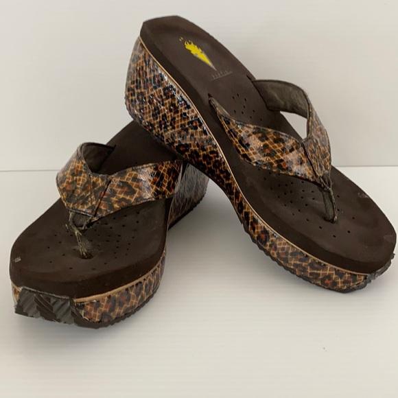 Volatile leopard Print Platform Sandals